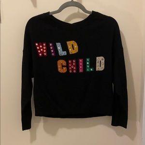Alice and Olivia Wild Child embellished sweater